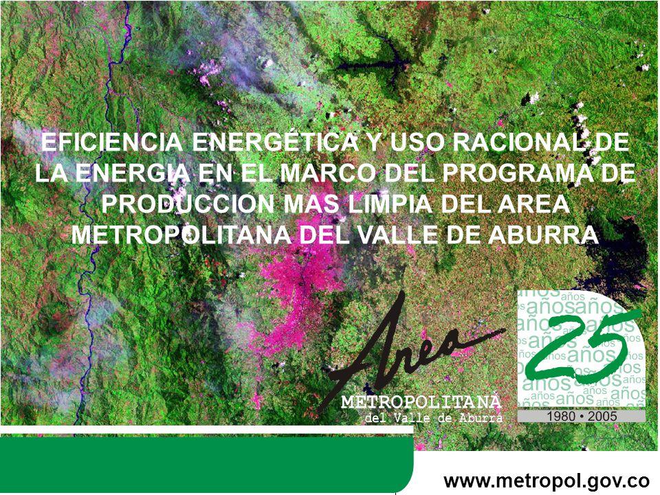 EFICIENCIA ENERGÉTICA Y USO RACIONAL DE LA ENERGIA EN EL MARCO DEL PROGRAMA DE PRODUCCION MAS LIMPIA DEL AREA METROPOLITANA DEL VALLE DE ABURRA
