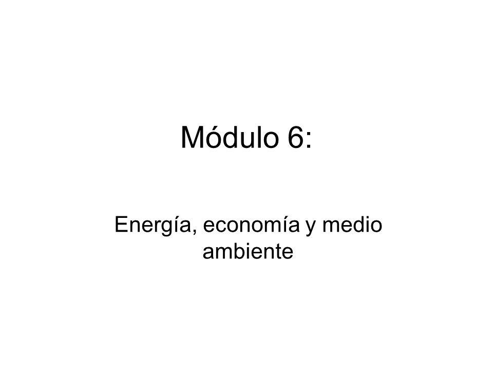 Energía, economía y medio ambiente