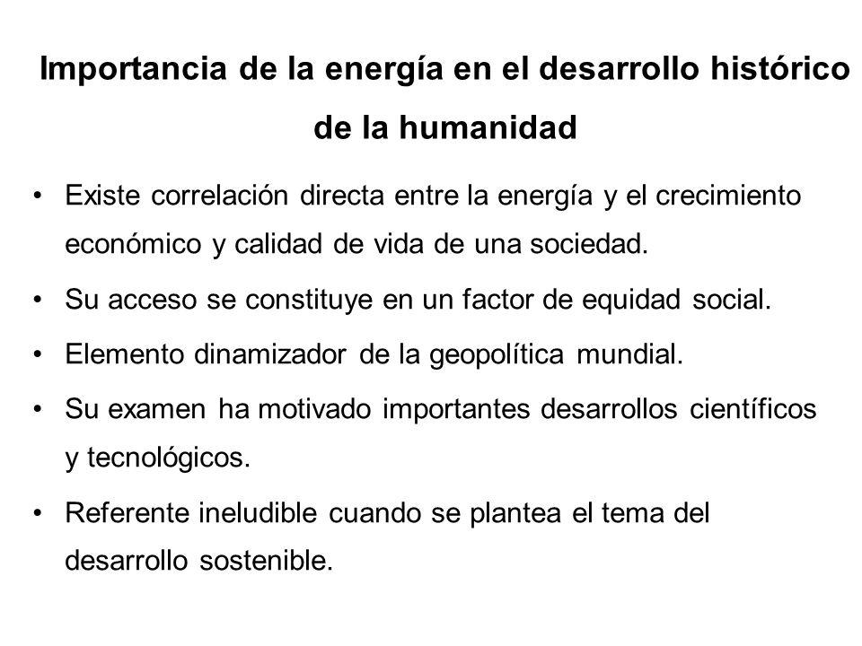 Importancia de la energía en el desarrollo histórico de la humanidad
