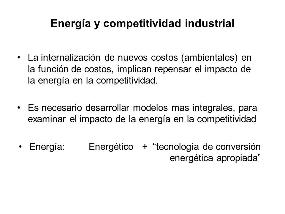 Energía y competitividad industrial
