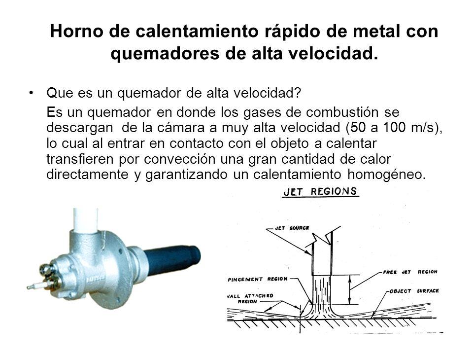 Horno de calentamiento rápido de metal con quemadores de alta velocidad.