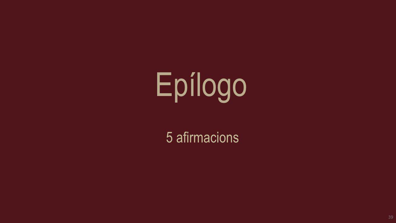 Epílogo 5 afirmacions