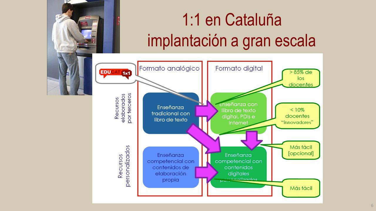 1:1 en Cataluña implantación a gran escala