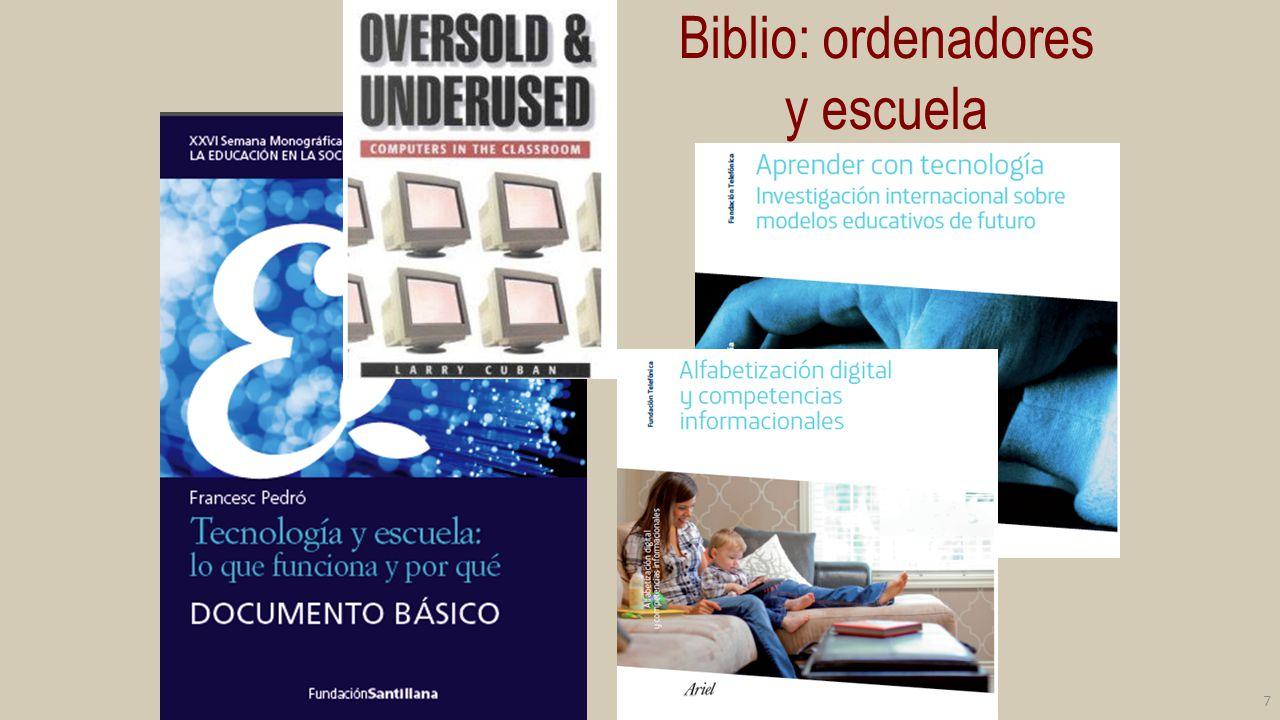 Biblio: ordenadores y escuela