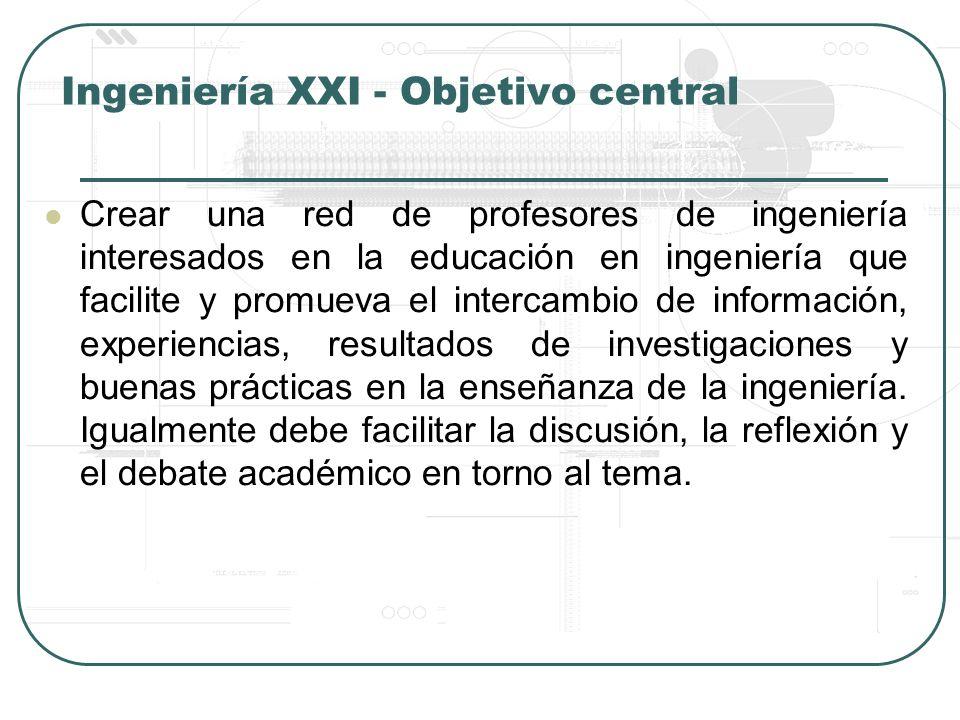 Ingeniería XXI - Objetivo central