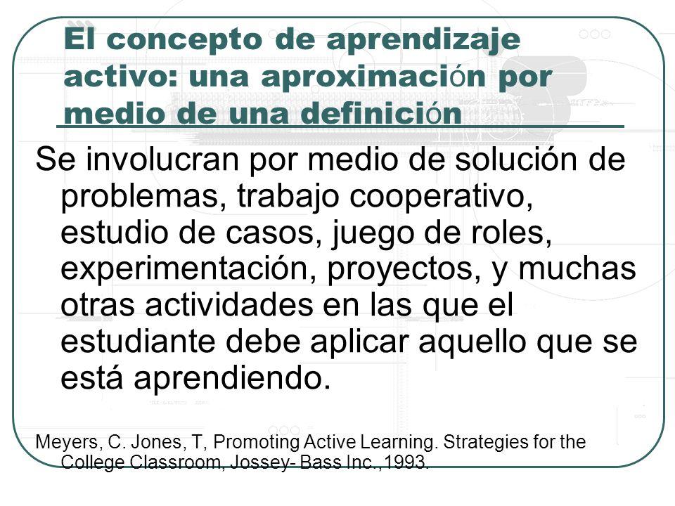 El concepto de aprendizaje activo: una aproximación por medio de una definición