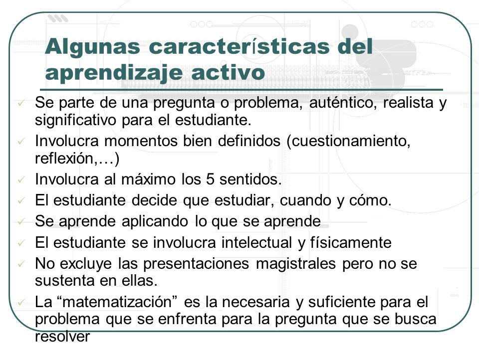 Algunas características del aprendizaje activo