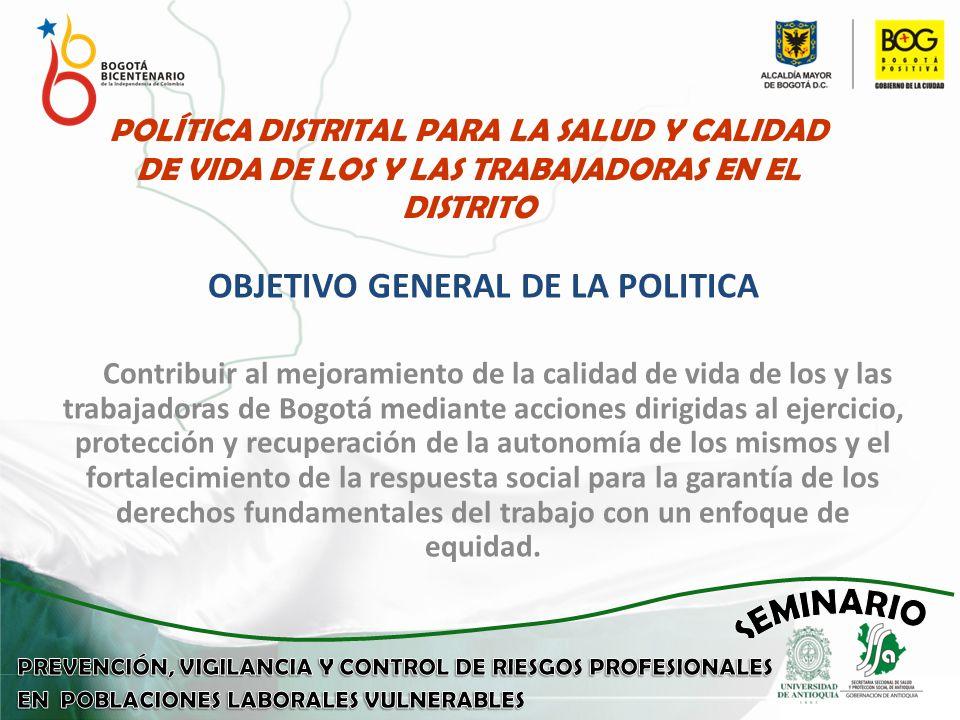 OBJETIVO GENERAL DE LA POLITICA