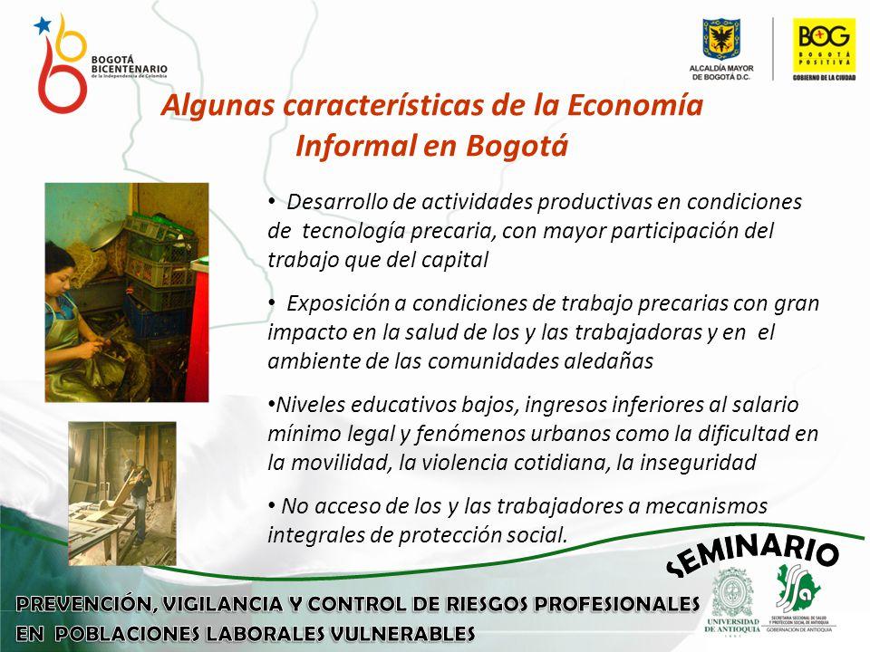 Algunas características de la Economía Informal en Bogotá