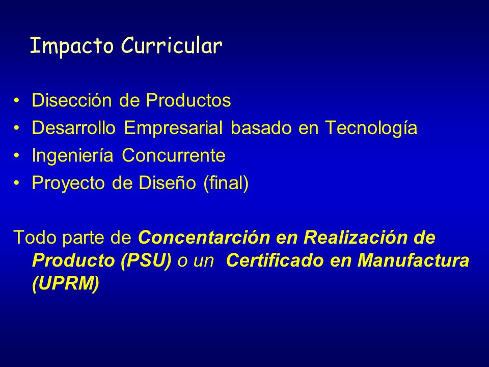 Impacto Curricular Disección de Productos