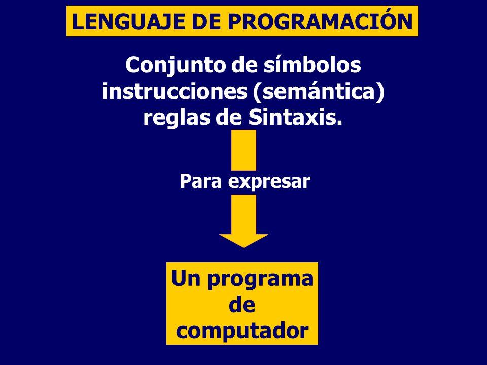 instrucciones (semántica)
