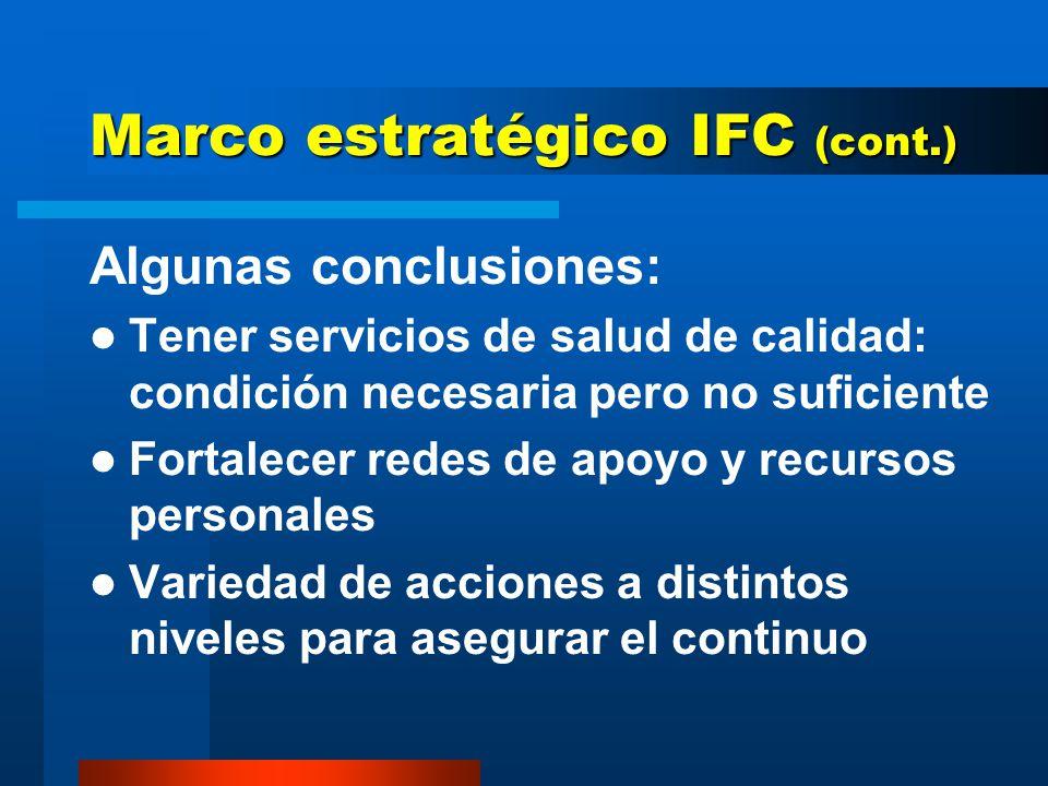 Marco estratégico IFC (cont.)
