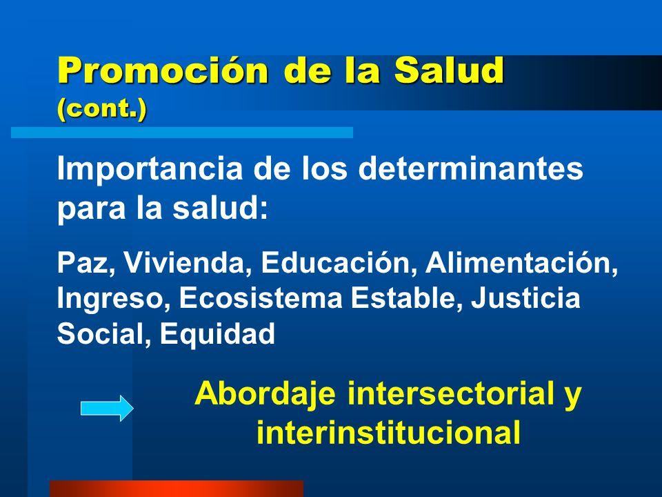Promoción de la Salud (cont.)