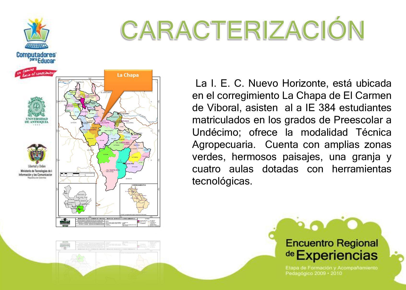 CARACTERIZACIÓN La Chapa.