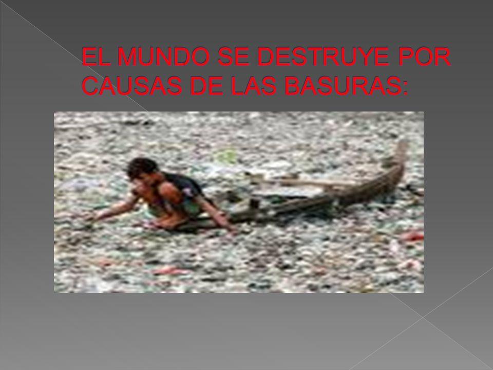 EL MUNDO SE DESTRUYE POR CAUSAS DE LAS BASURAS: