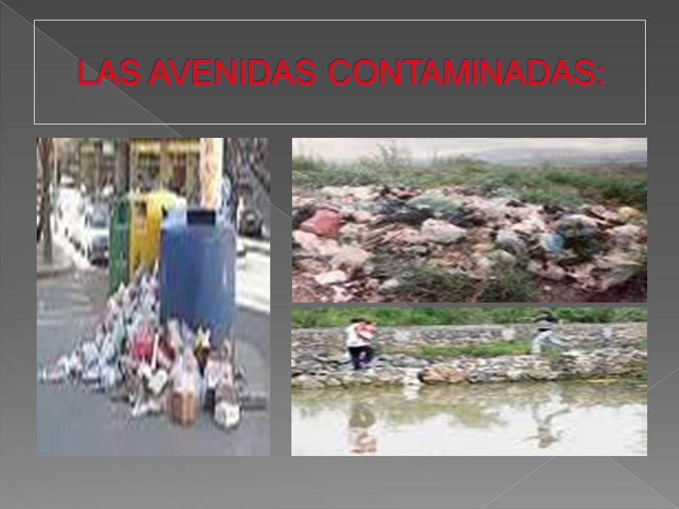 LAS AVENIDAS CONTAMINADAS: