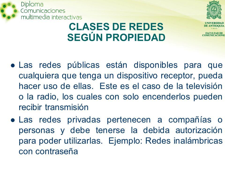 CLASES DE REDES SEGÚN PROPIEDAD