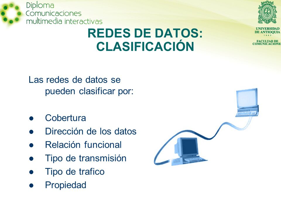 REDES DE DATOS: CLASIFICACIÓN
