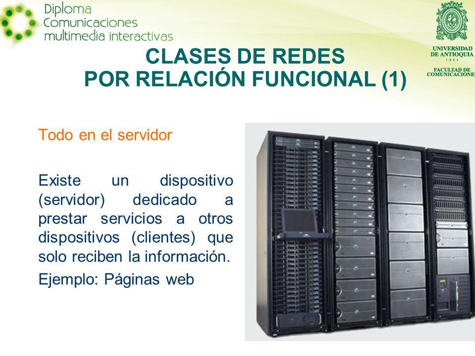 CLASES DE REDES POR RELACIÓN FUNCIONAL (1)