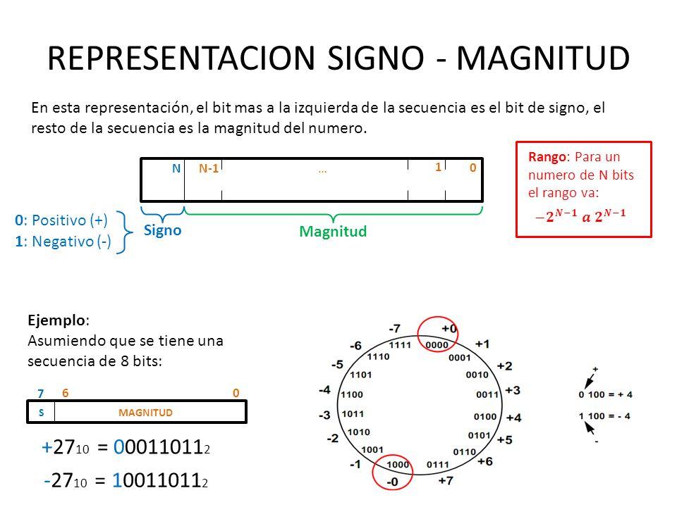 REPRESENTACION SIGNO - MAGNITUD