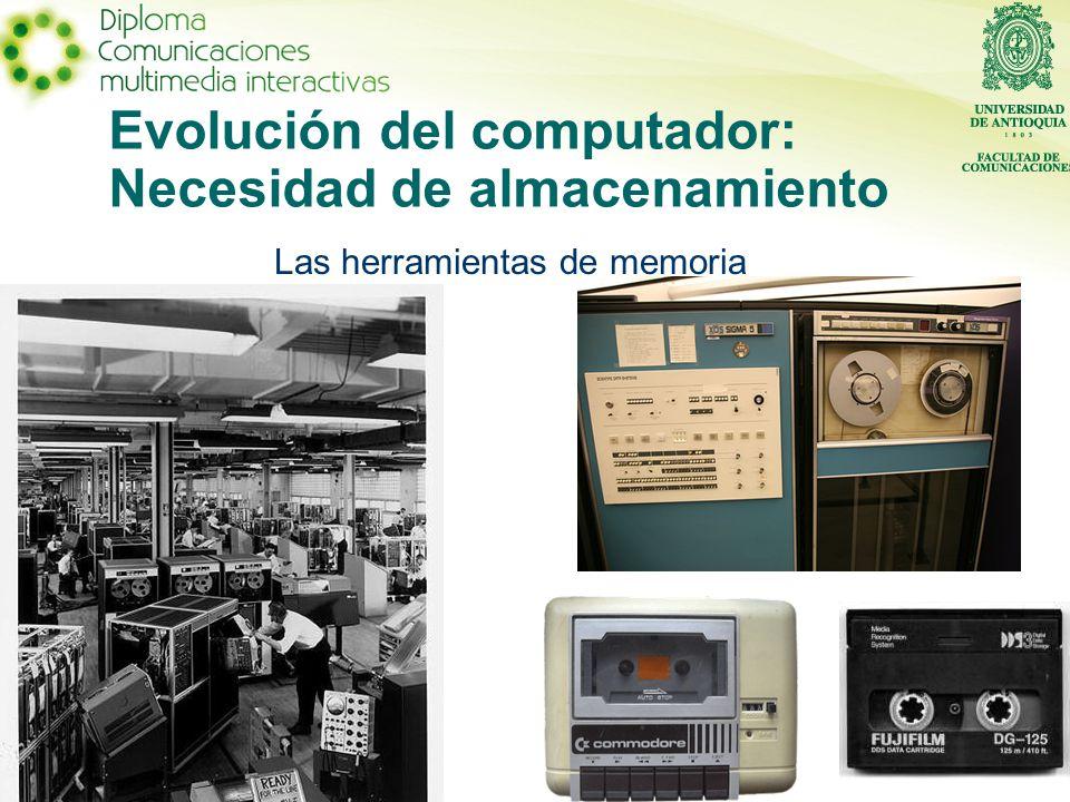 Evolución del computador: Necesidad de almacenamiento