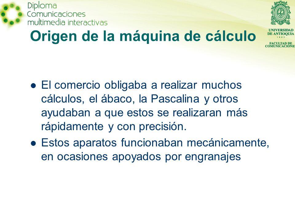 Origen de la máquina de cálculo