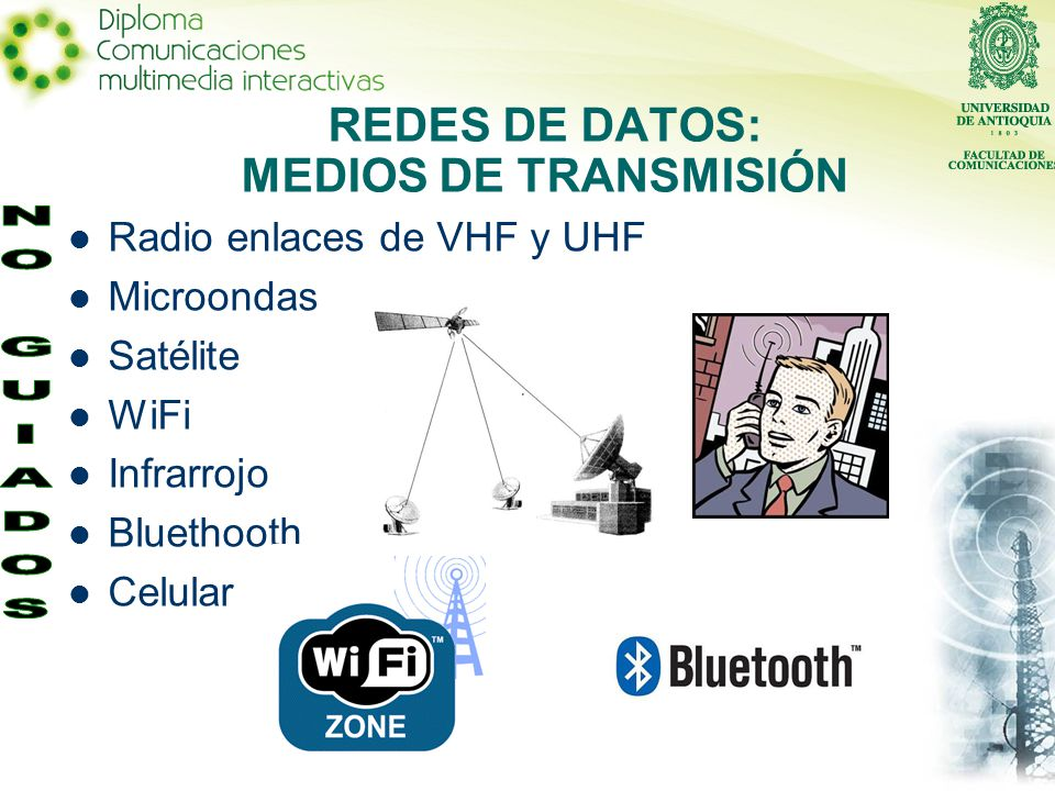REDES DE DATOS: MEDIOS DE TRANSMISIÓN