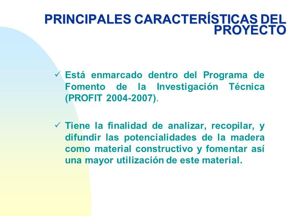 PRINCIPALES CARACTERÍSTICAS DEL PROYECTO