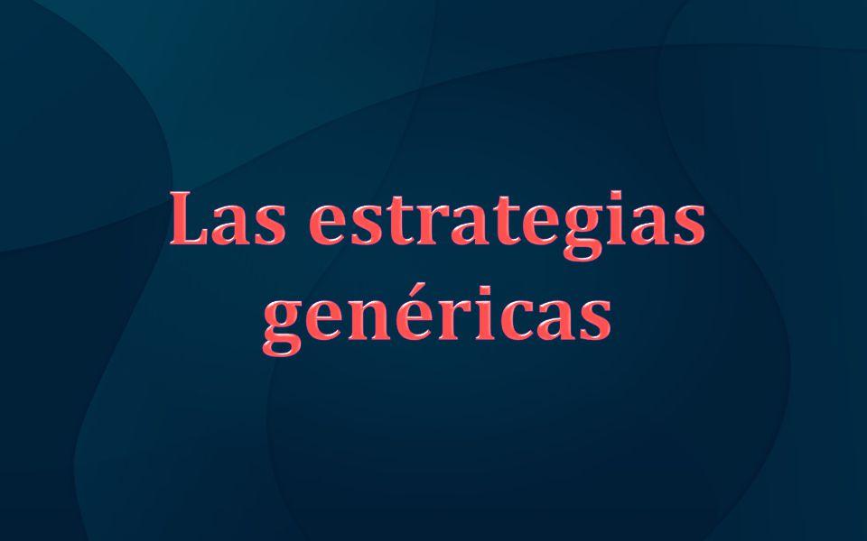 Las estrategias genéricas