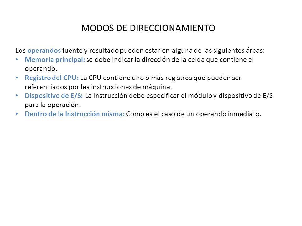 MODOS DE DIRECCIONAMIENTO