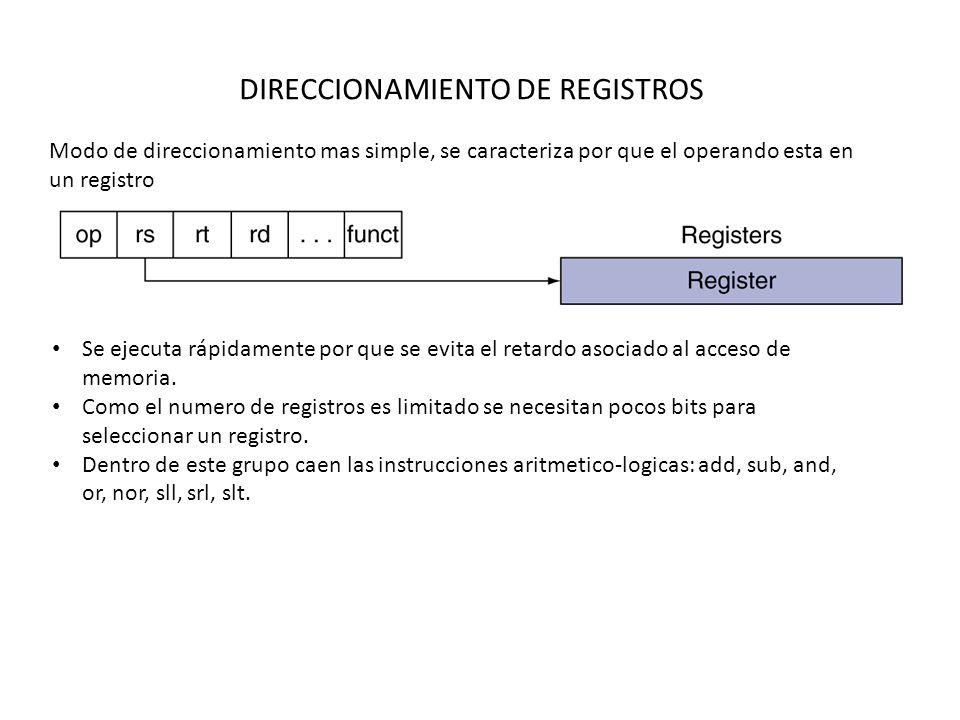 DIRECCIONAMIENTO DE REGISTROS