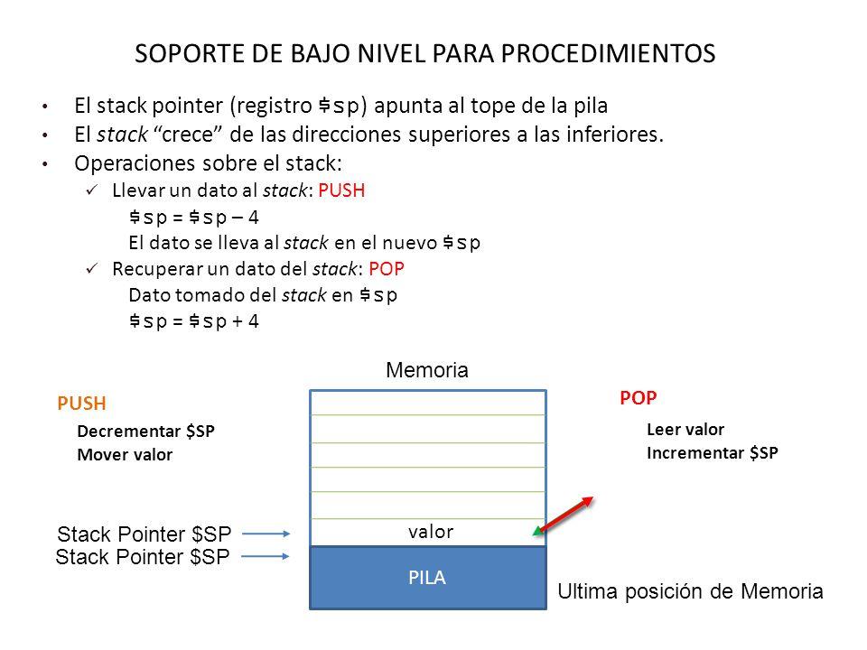 SOPORTE DE BAJO NIVEL PARA PROCEDIMIENTOS