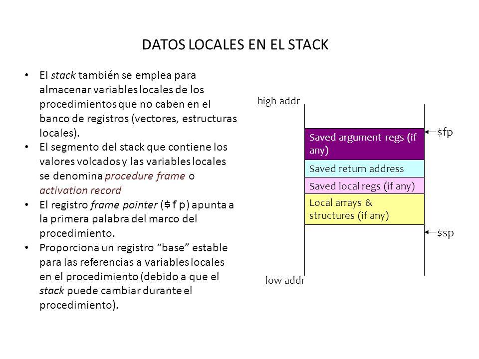 DATOS LOCALES EN EL STACK