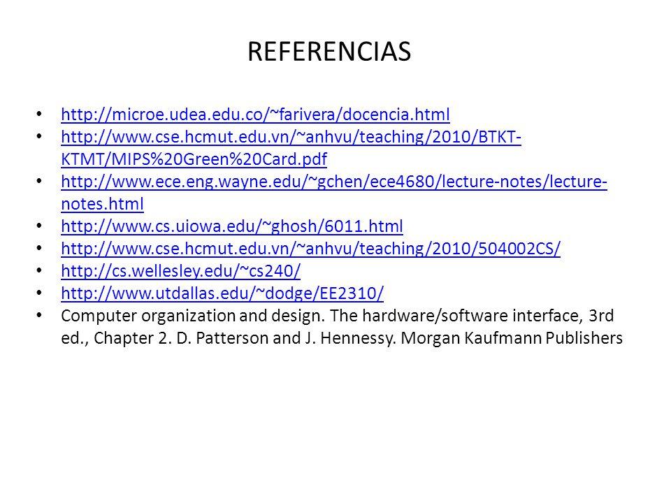 REFERENCIAS http://microe.udea.edu.co/~farivera/docencia.html