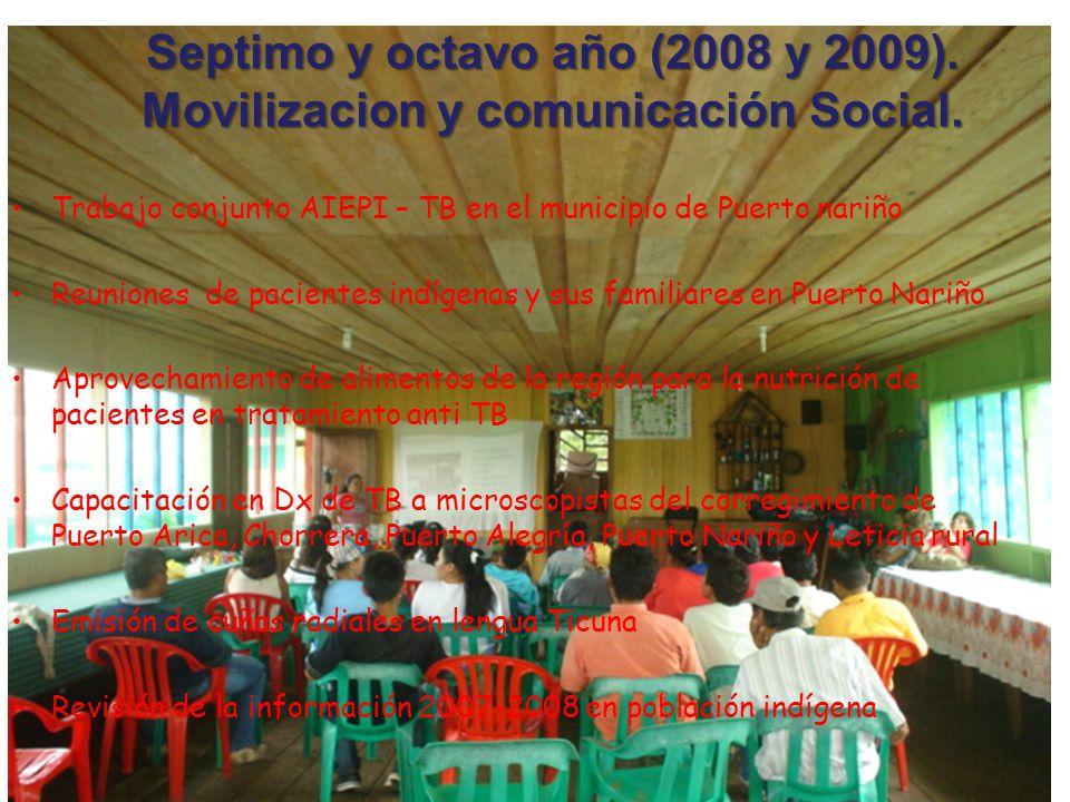 Septimo y octavo año (2008 y 2009). Movilizacion y comunicación Social.