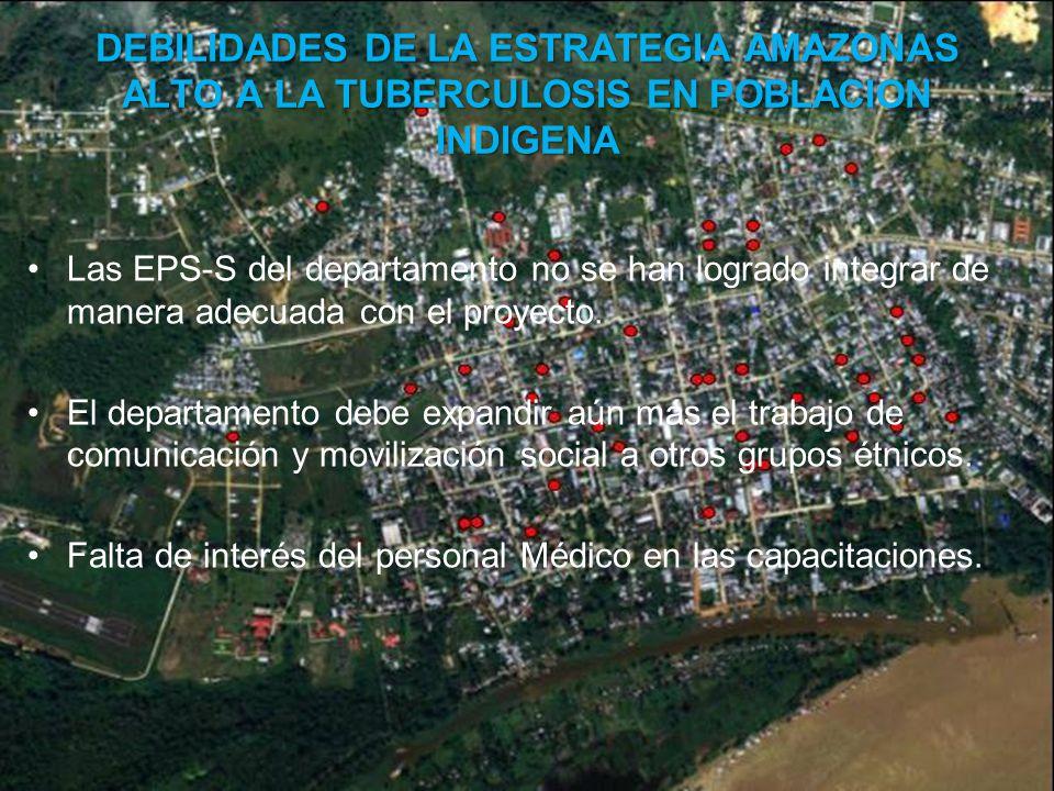 DEBILIDADES DE LA ESTRATEGIA AMAZONAS ALTO A LA TUBERCULOSIS EN POBLACION INDIGENA