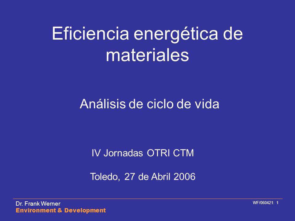 Eficiencia energética de materiales