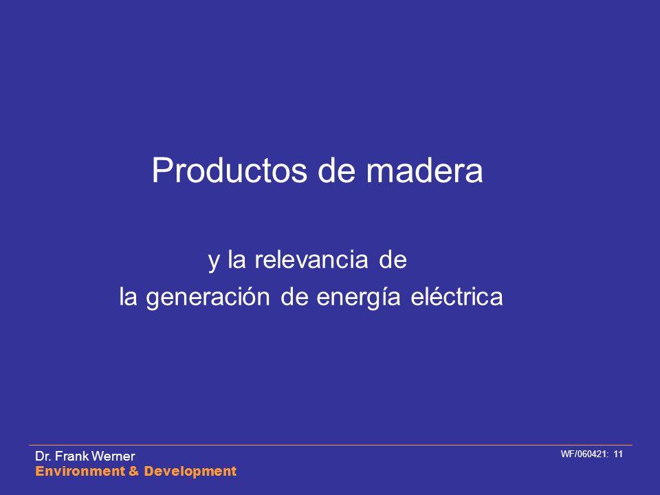 la generación de energía eléctrica