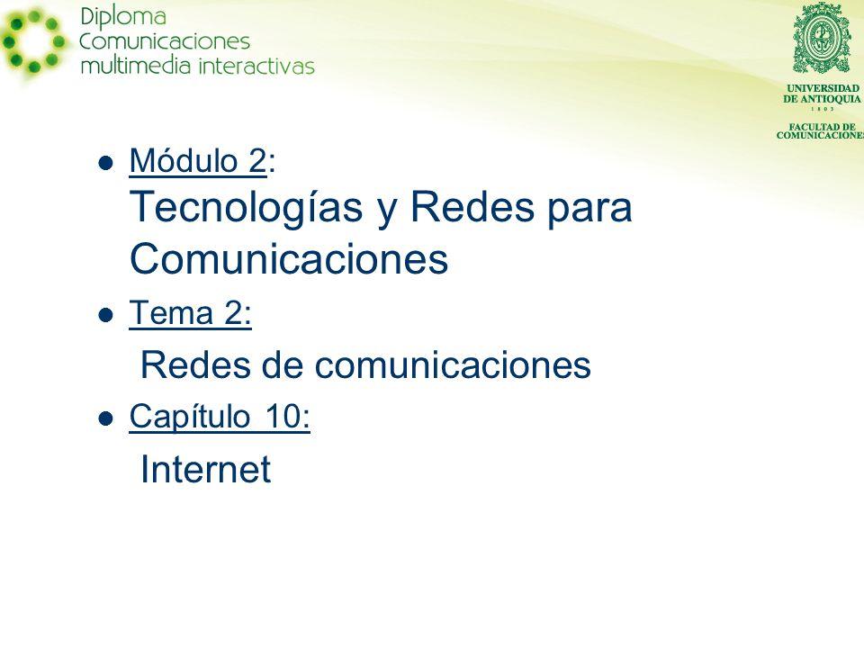 Redes de comunicaciones Internet