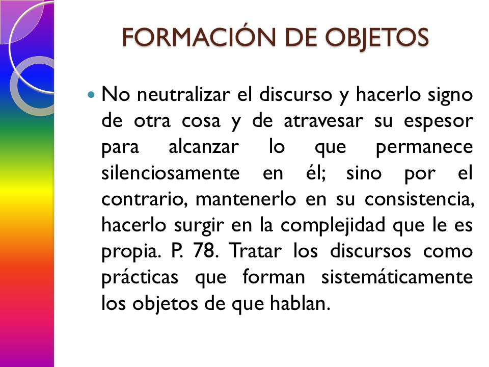 FORMACIÓN DE OBJETOS