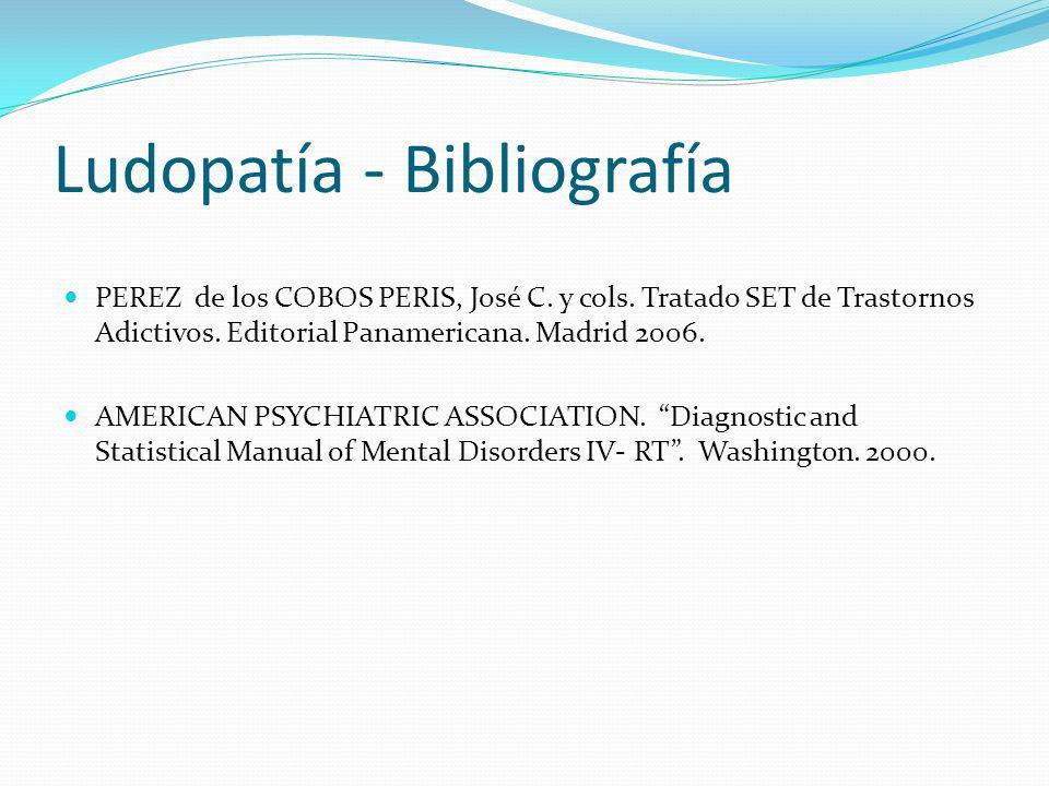 Ludopatía - Bibliografía