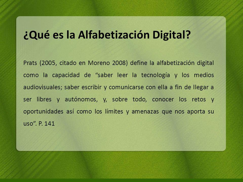 ¿Qué es la Alfabetización Digital