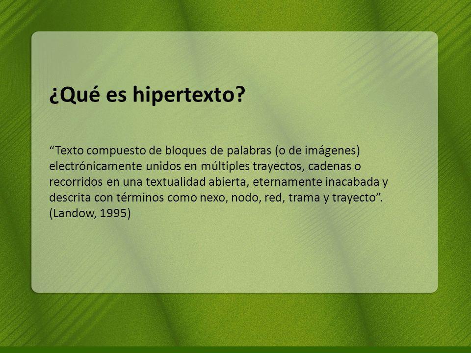 ¿Qué es hipertexto