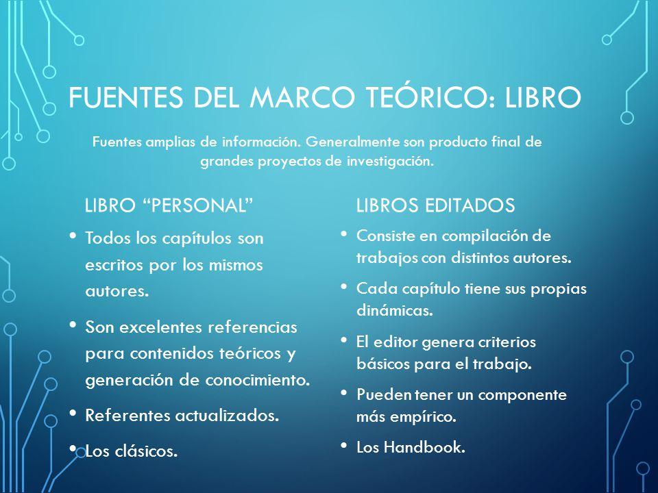 FUENTES DEL MARCO TEÓRICO: lIBRO