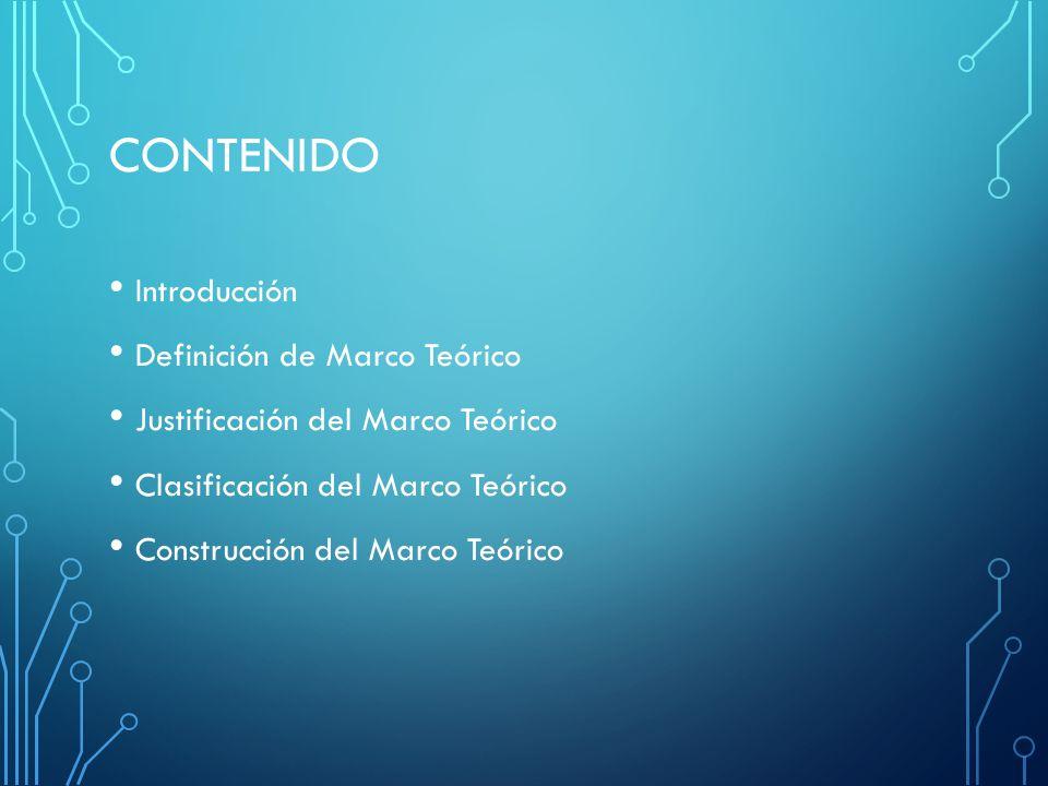 CONTENIDO Introducción Definición de Marco Teórico
