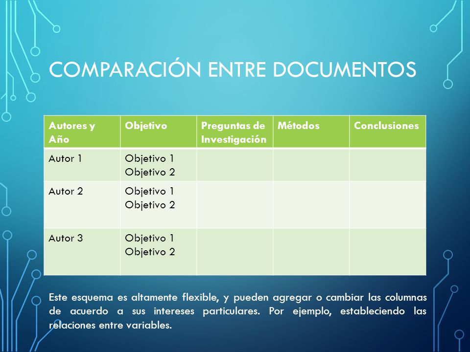 COMPARACIÓN ENTRE DOCUMENTOS