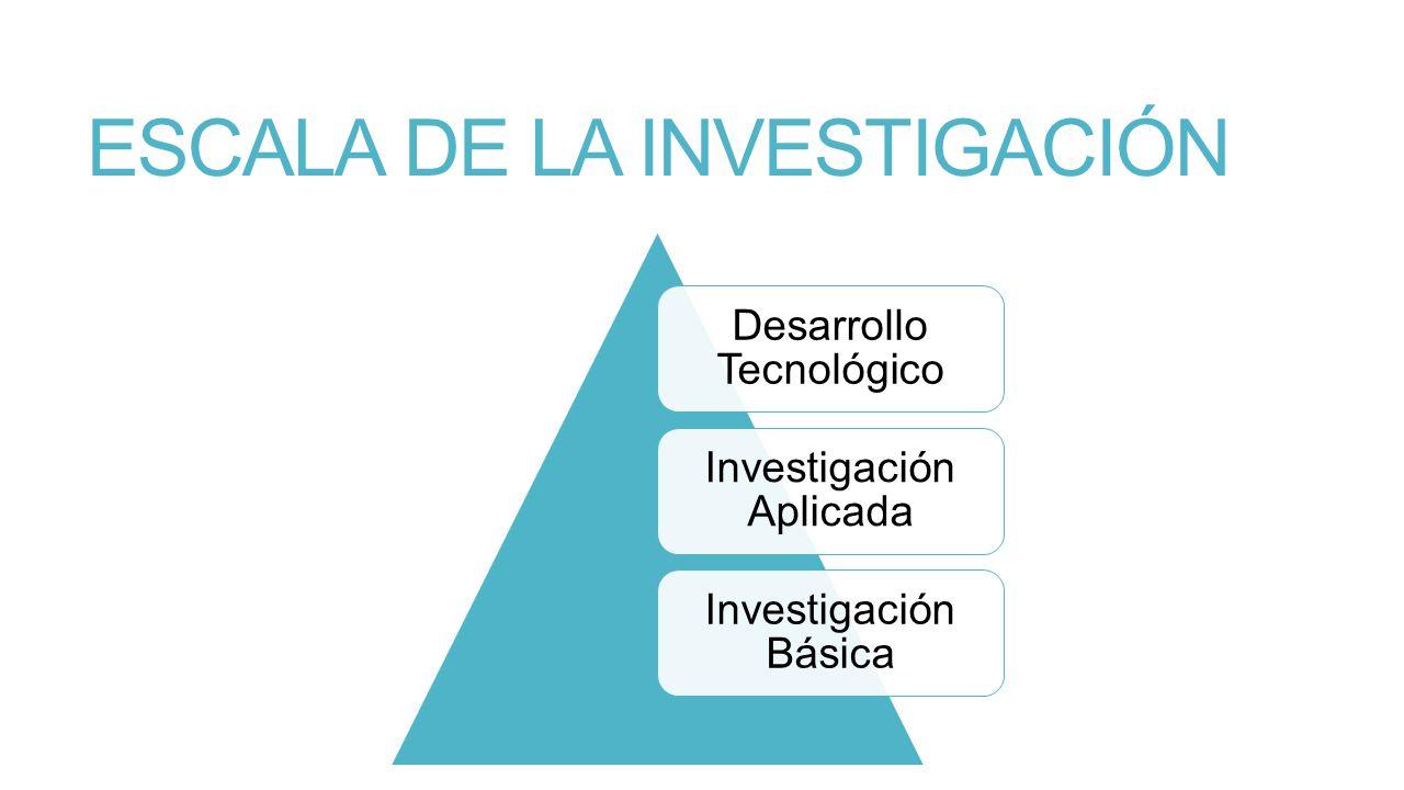 ESCALA DE LA INVESTIGACIÓN