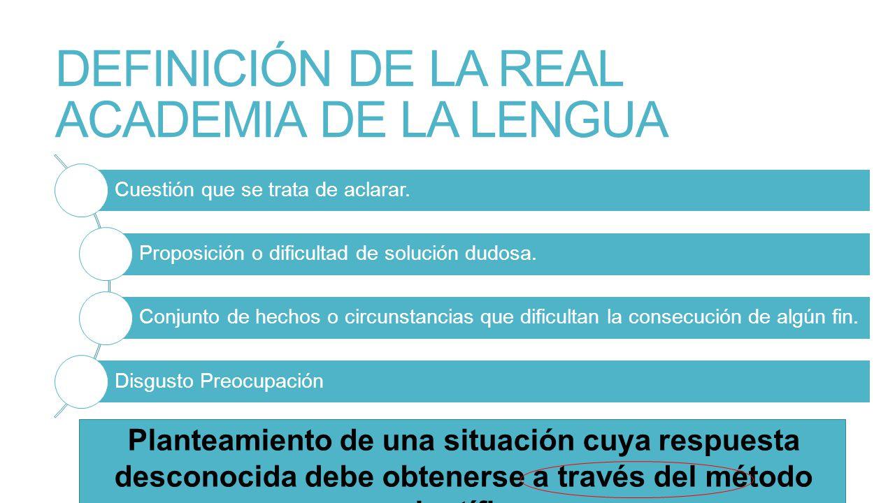 DEFINICIÓN DE LA REAL ACADEMIA DE LA LENGUA