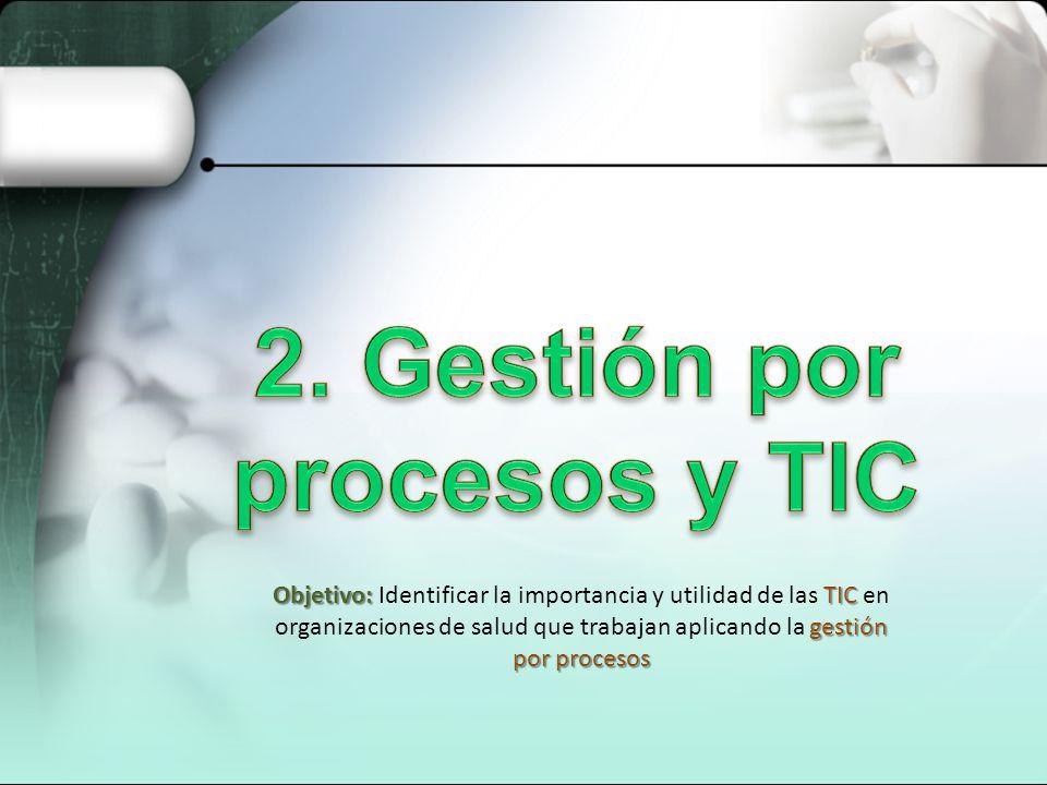 2. Gestión por procesos y TIC