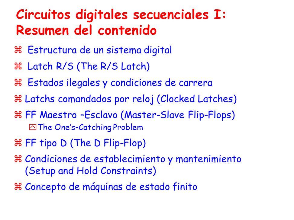 Circuitos digitales secuenciales I: Resumen del contenido